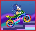 Sonic en su Moto Maravillosa